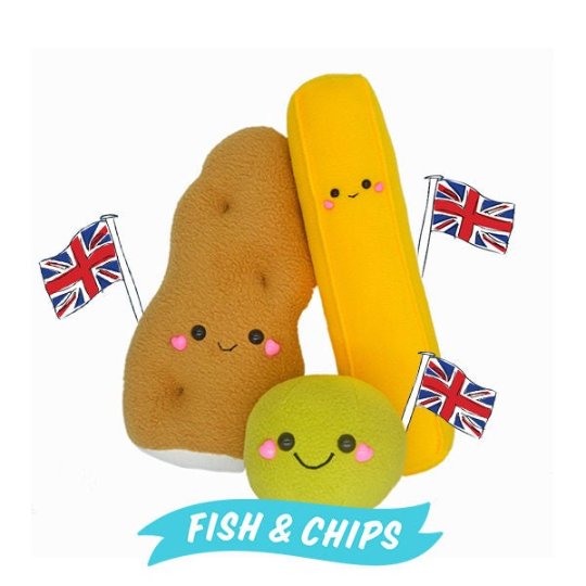 Fish and chips handmade plushies