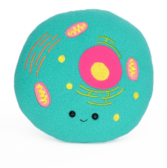 Animal cell structure plushie
