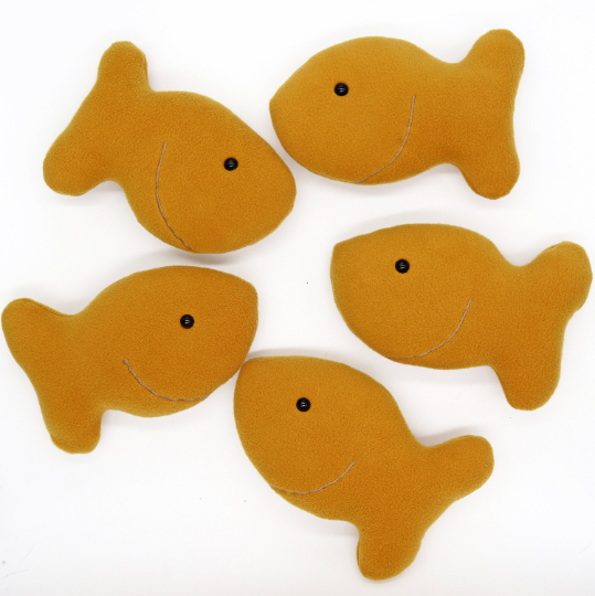 Goldfish cracker handmade plushie