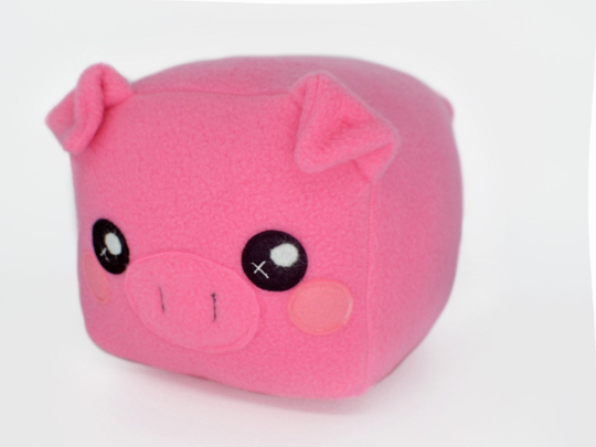 Piglet plushie loaf shape cube square plush toy