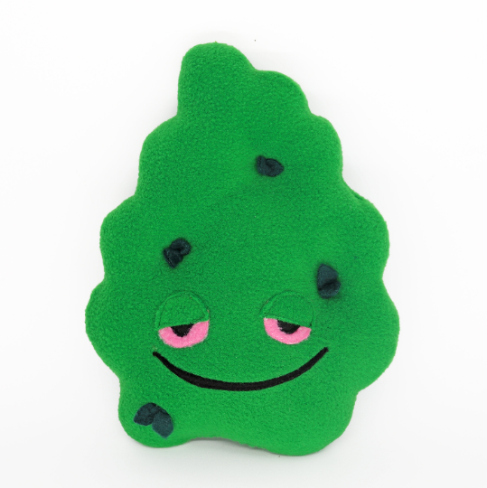 Stoned cannabis bud plushie / pillow