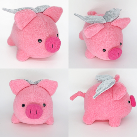 Flying pig plushie -Nothing's impossible - when pigs fly !