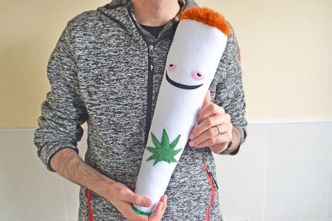 Medical marijuana cigarette pillow plush plushie cushion