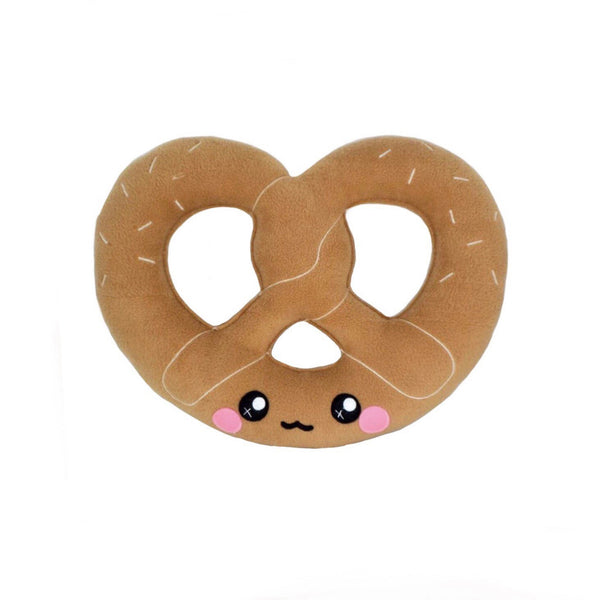 Pretzel plushie / kawaii pillow baked goods novelty stuffed cushion