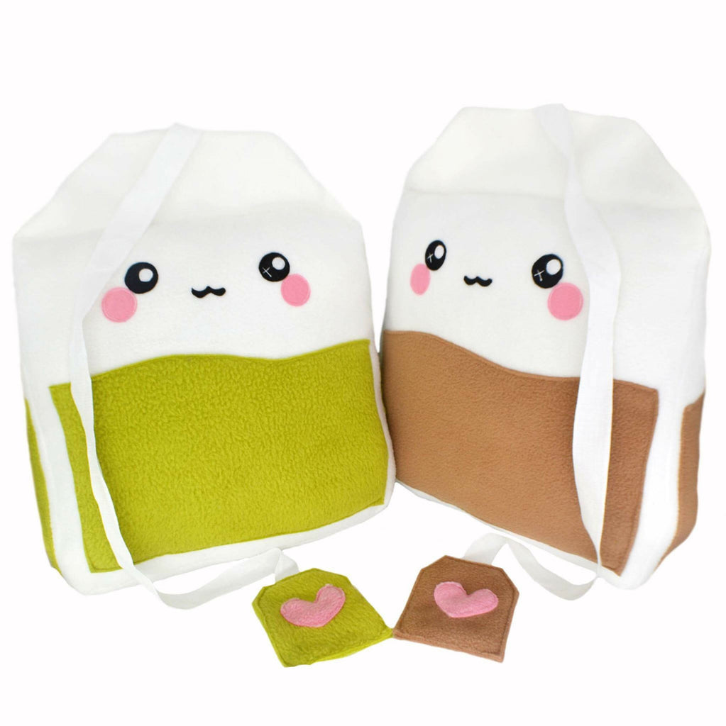 Giant tea bag pillows / kawaii plushies stuffed toys home decor green tea english tea
