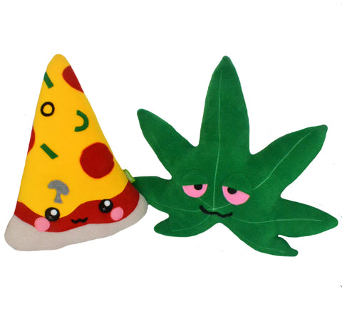 Munchies Pack - Pizza and Pot plushies/pillows
