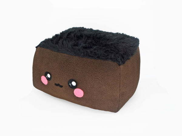 Brownie plushie / kawaii fluffy sweet pillow