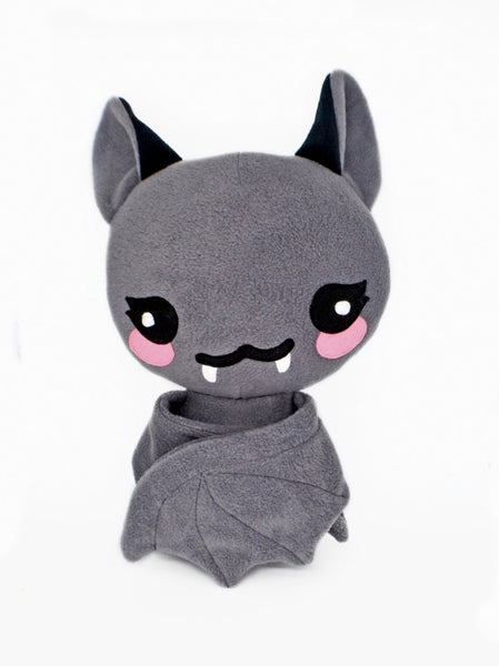 Bat plushie kawaii soft toy pillow cushion handmade vampire halloween cute scary