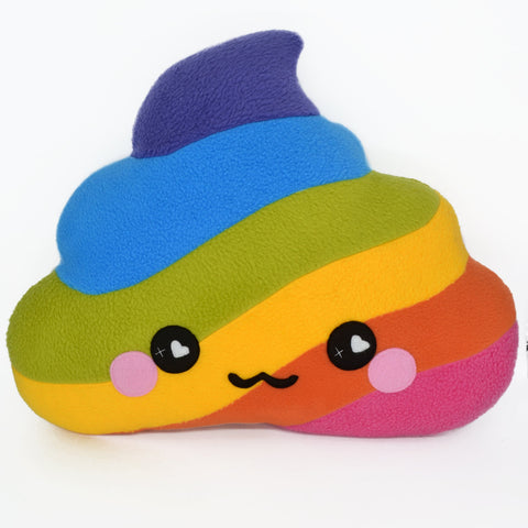 BIG Rainbow unicorn poop plushie happy drop pee kawaii humor plush toy kawaii pillow cushion