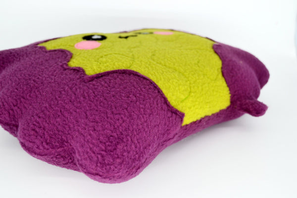 Intestines plushie / kawaii comfort pillow guts stomach tummy colon cushion purple lime green