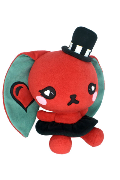 BIG Love bunny plushie , red rabbit steampunk gothic kawaii plush toy