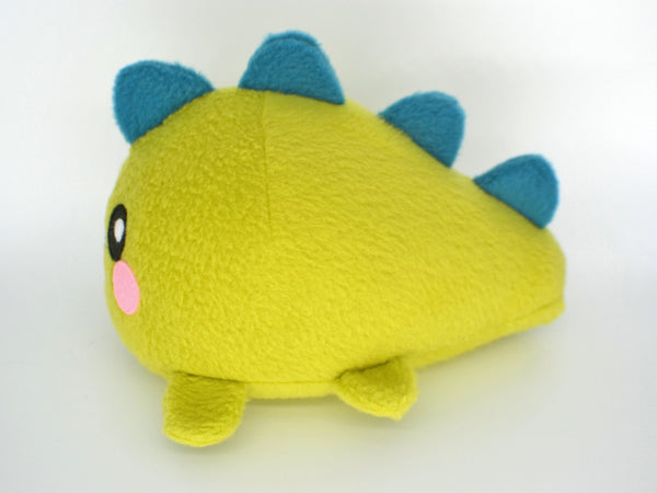 Dinosaur plushie , handmade kawaii stuffed animal monster cute lime green rawr