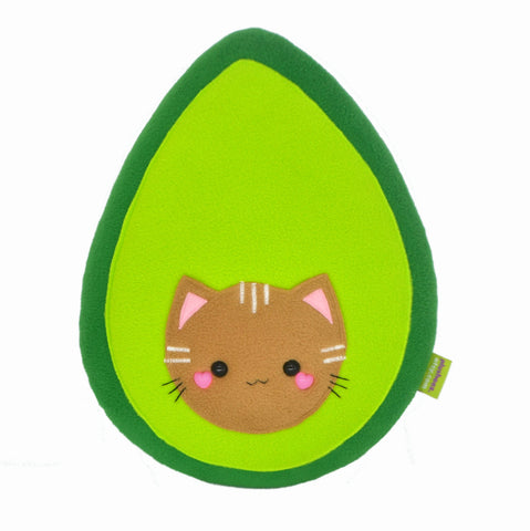 Avokitty plushie / handmade avocat pillow avogato plush toy cat kawaii avocado