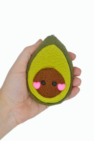 Avocado plushie keychain/ bag charm keyring stuffed toy soft toy stuffie vegetable vegan charm