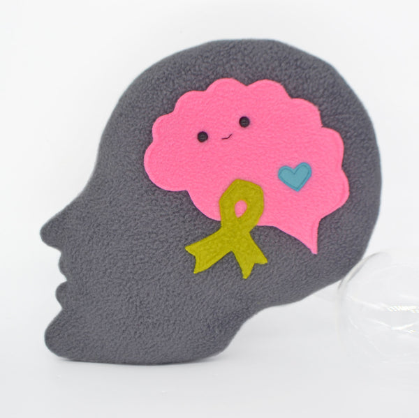 Mental health awareness plushie comfort pillow
