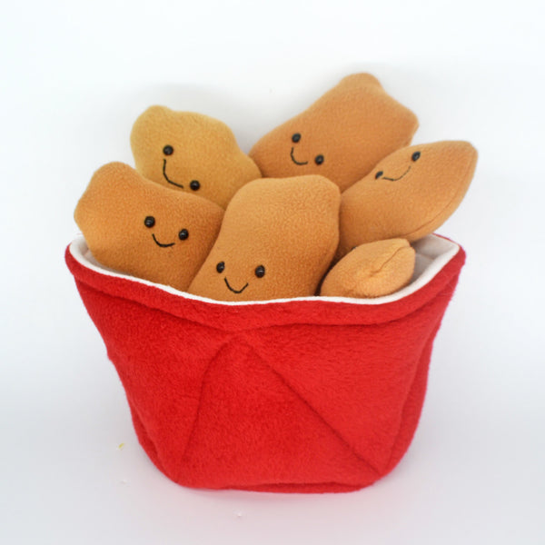 Bucket of Fried Chicken plushie / novelty food pillow