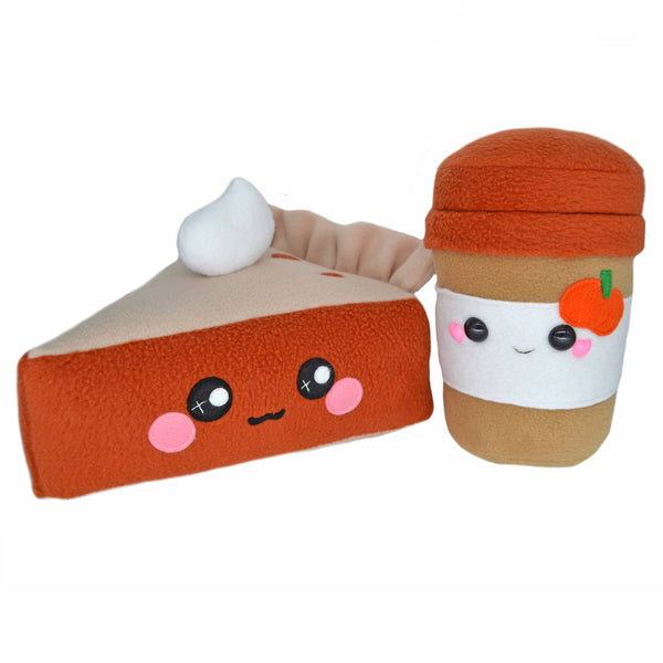 Pumpkin pie & Pumpkin latte plushies