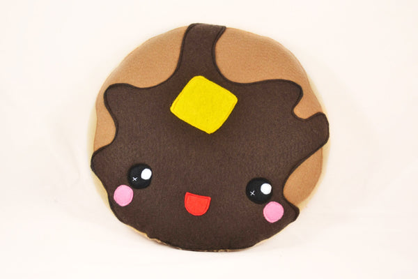 Pancake pillow cushion plushie novelty geekery felt food kawaii happy