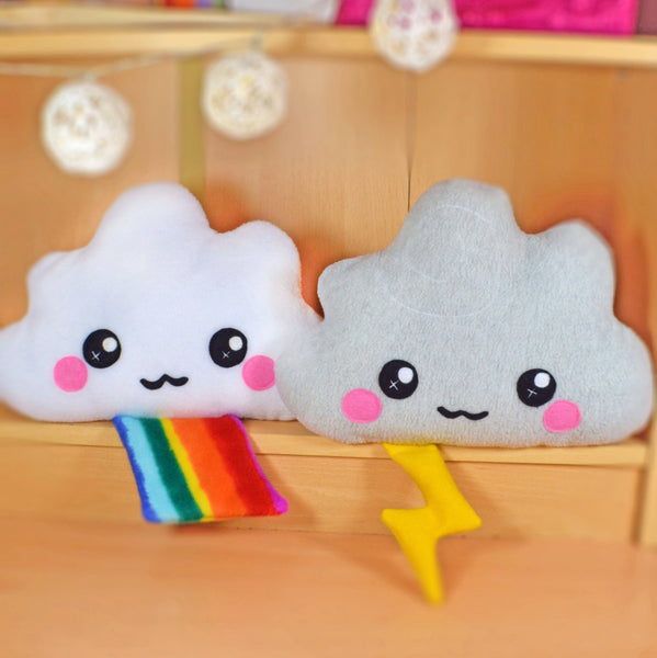 Cloud plush toy / novelty soft pillow / kawaii cushion / rainbow