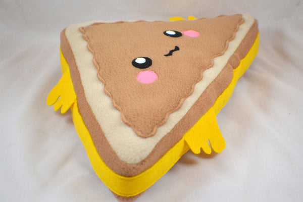 Grilled cheese sandwich triangle pillow / plush toy