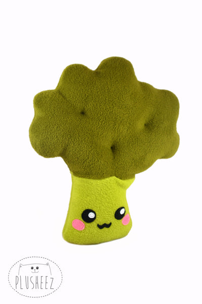 Mr Broccoli plushie - kawaii handmade pillow / cushion