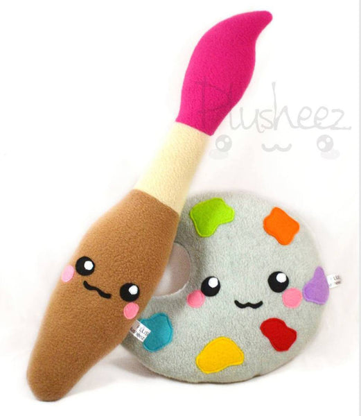 Painting brush and palette SET kawaii plush toys plushies
