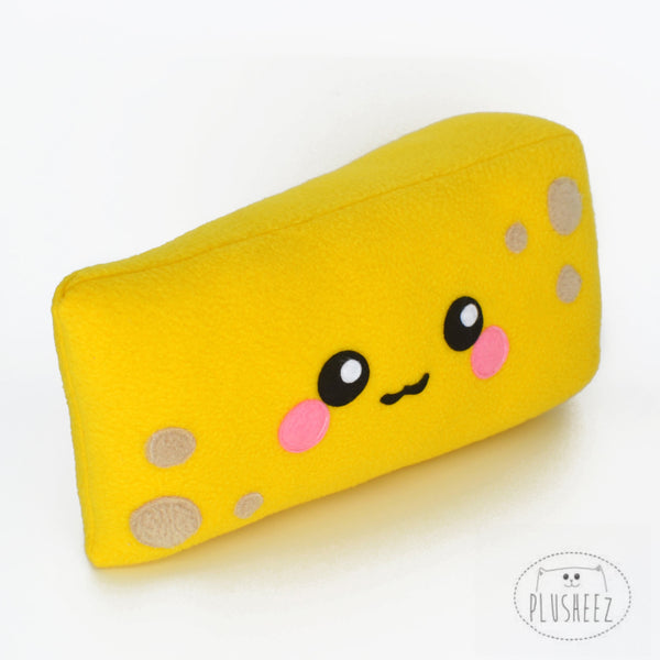 Cheddar Cheese kawaii plushee novelty comfort food pillow cushion stuffed toy