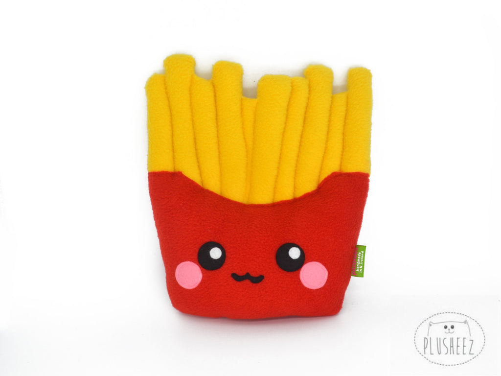 French Fries Plushie Novelty Kawaii Soft Cuddly Pillow Cushion Fast Junk Food