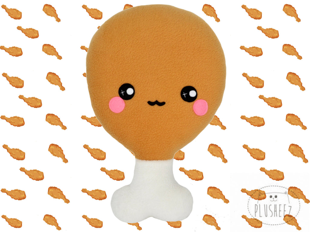 Chicken Drumstick plushie / novelty food pillow