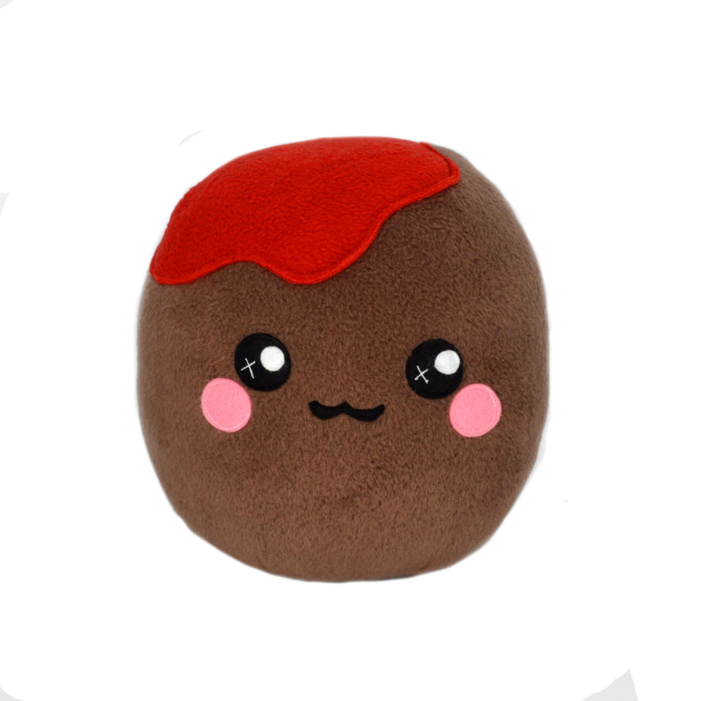 Meatball plushie / novelty pillow food cushion