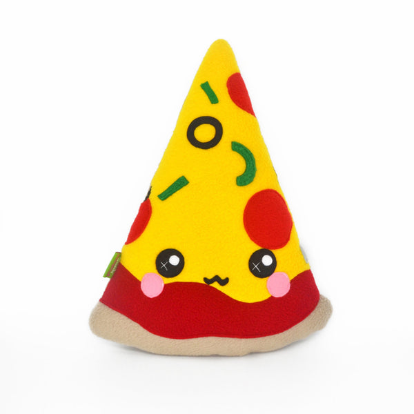 Pizza slice pillow plushie kawaii novelty cushion pie food