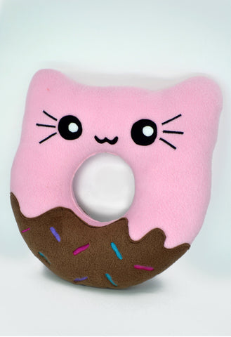 Doughnut kitty pillow / kawaii donut plushies