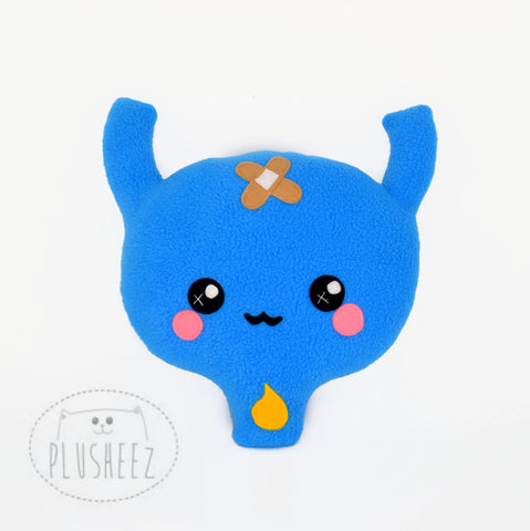 Urinary bladder plushie / organ shaped comfort pillow/ cushion