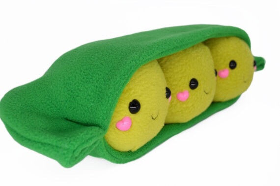 Peas in a pod plushie
