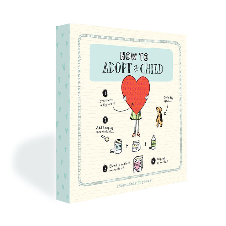 Three quarter view of How To Adopt a Child canvas.