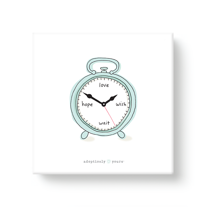 Waiting Clock Adoption Canvas