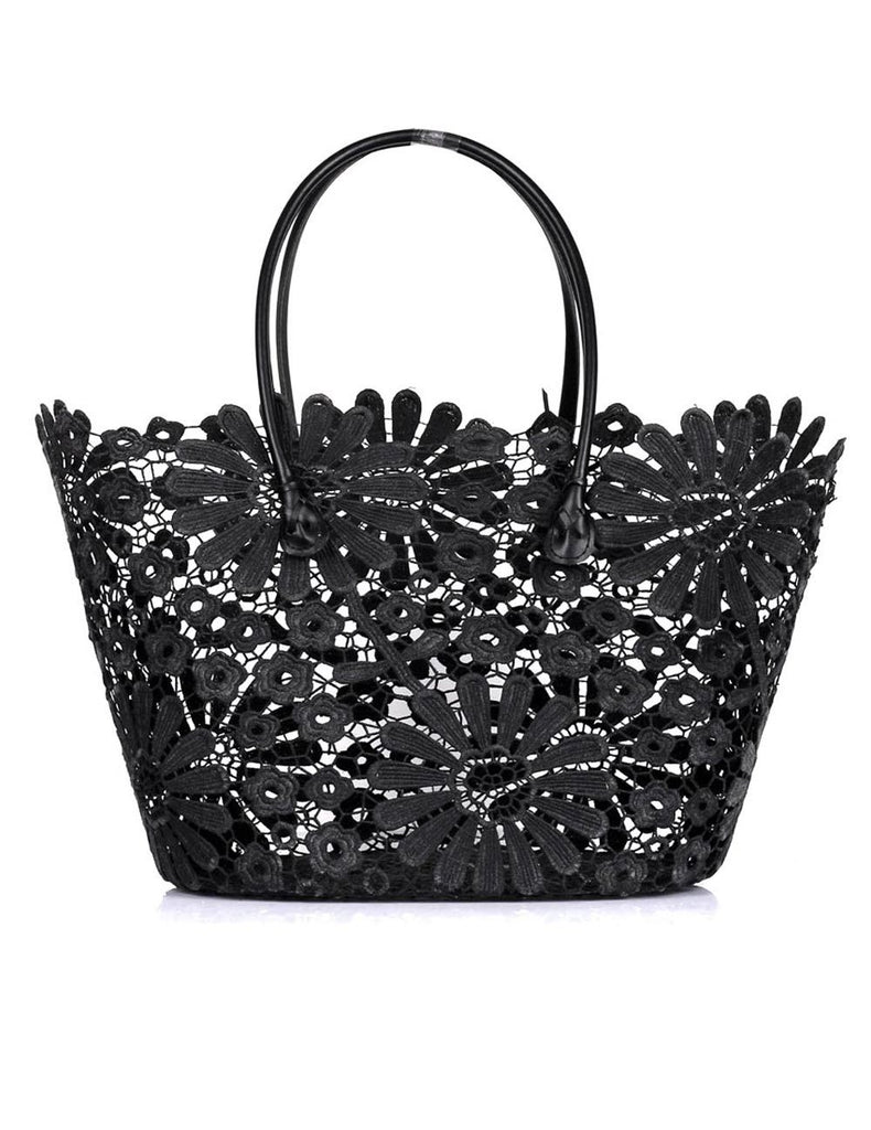 Women's Summer Lace Bag Daisy Black - karlahanson.com