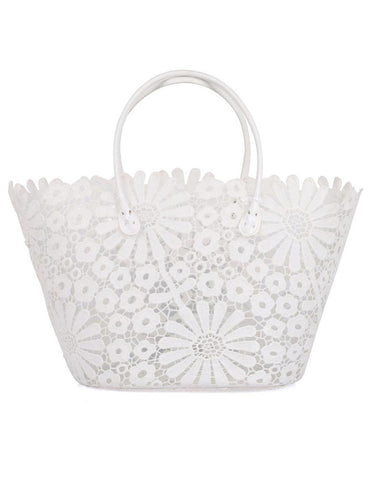 Women's Summer Lace Bag Daisy White - karlahanson.com