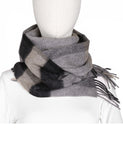 Classic Fringe Plaid Wool Scarf