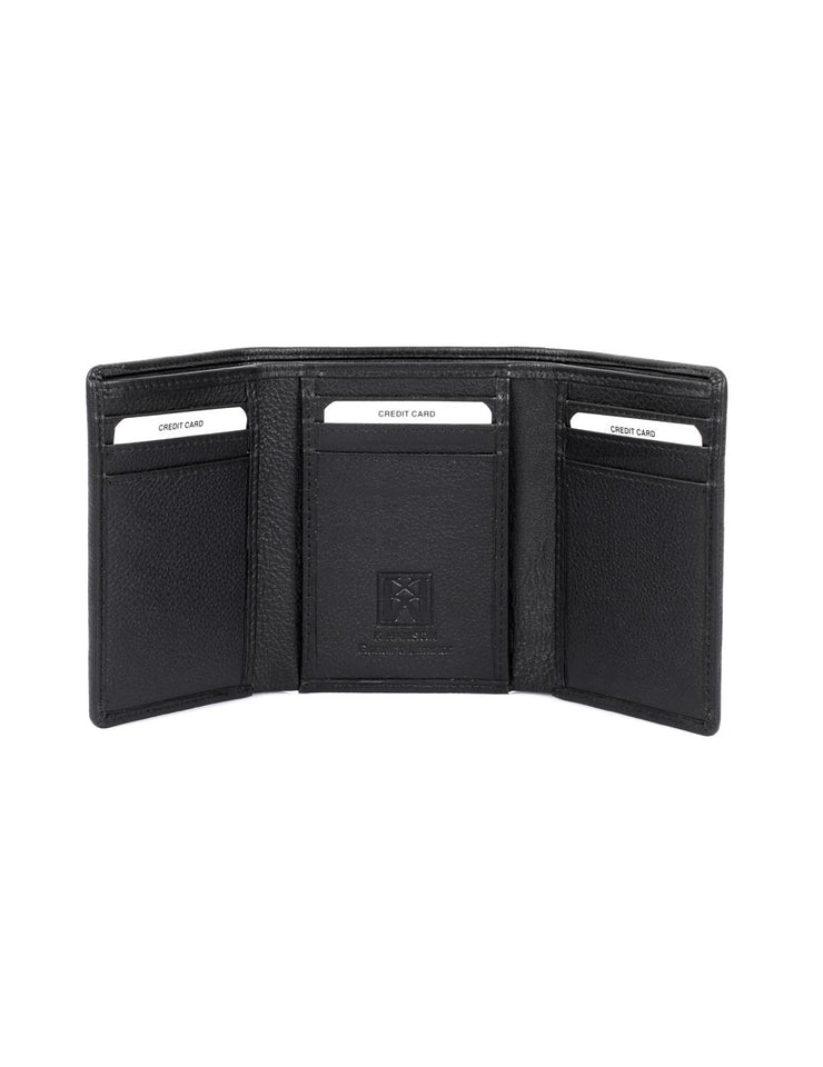 06f4acecd1ca20 Men's RFID Leather Trifold Wallet - karlahanson.com ...