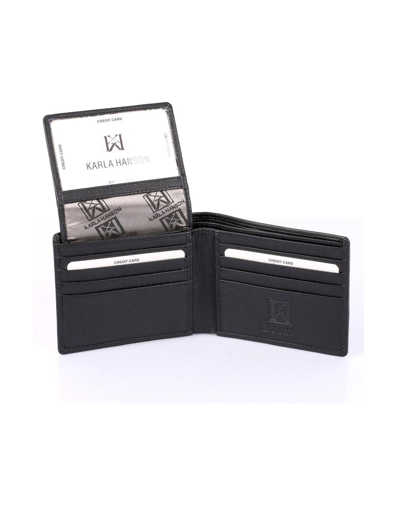 Men's RFID Leather Bifold Wallet with Top Card Holder Insert - karlahanson.com