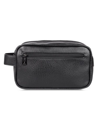 Men's Double-Compartment Travel Toiletry Bag Black