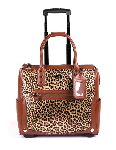 Women's RFID Professional & Travel Trolley Animal Prints Leopard Front - karlahanson.com