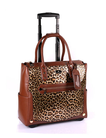 Women's RFID Professional & Travel Trolley Animal Prints Leopard Side - karlahanson.com