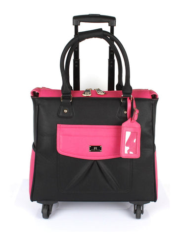 Women's RFID Professional & Travel Trolley Black Pink Front - karlahanson.com