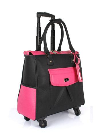Women's RFID Professional & Travel Trolley Black Pink Side - karlahanson.com