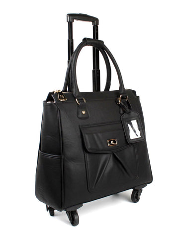 Women's RFID Professional & Travel Trolley Black Side - karlahanson.com