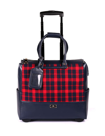 Women's RFID Professional & Travel Trolley Plaid Front - karlahanson.com