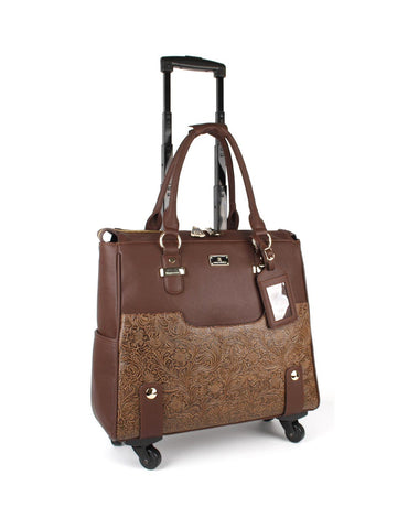 Women's RFID Professional & Travel Trolley 3D Floral - karlahanson.com