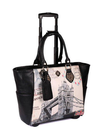 Women's RFID Bon Voyage Travel Trolley London Bridge - karlahanson.com